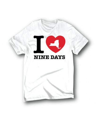 I Love Nine Days T-Shirt (White)