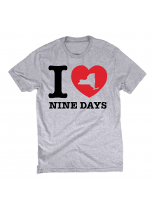 I Love Nine Days T-Shirt (Grey)